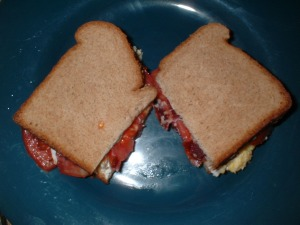 Bacon, Egg & Tomato Sandwich