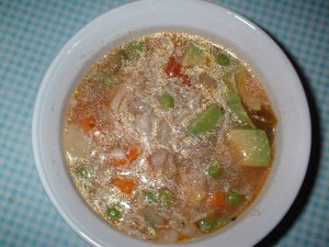 Aguado de Gallina, or Chicken and Rice Soup