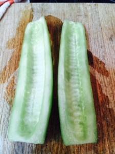 Falafel cucumbers