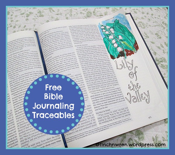 Traceables for Bible Journaling…from Kelly O'Dell Stanley | finchnwren